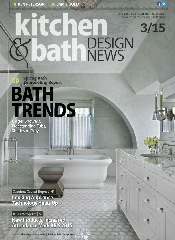 Kitchen & Bath Design News March 2015 Bath Trends